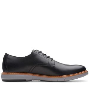 Ανδρικά παπούτσια CLARKS Draper Lace 261496337 Black Μαύρο